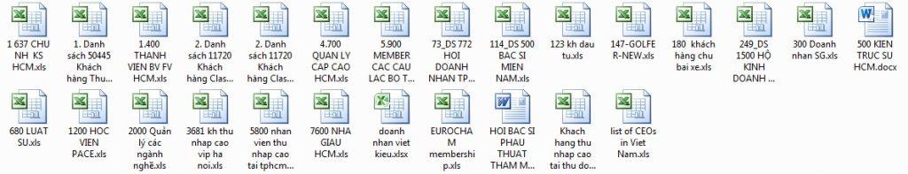 Danh Sách Người Thu Nhập Cao Tại HCM