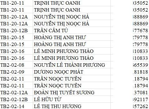 danh sách khách hàng Botanica Phú Nhuận